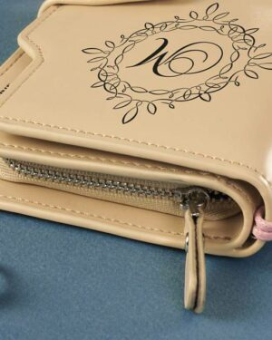 подарок для женщины стильный портмоне клатч с именем сбоку
