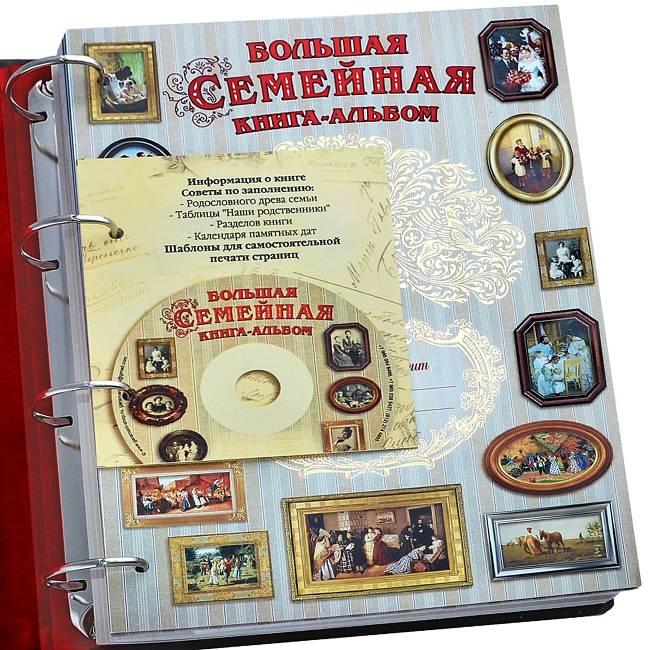 подарок семье книга-фотоальбом с