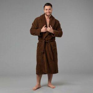 подарок для мужчины именной халат с вышивкой