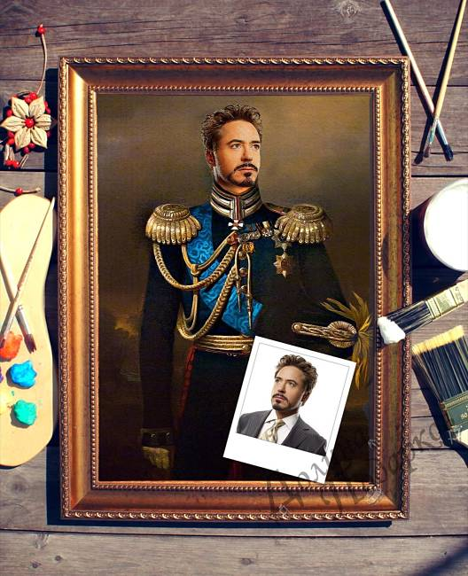 подарок портрет выполненный по фотографии Кавалерист