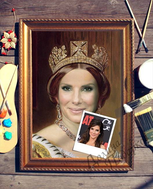 подарок портрет выполненный по фотографии Королева