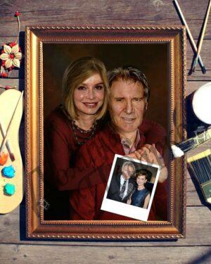 подарок портрет выполненный по фотографии Счастливые супруги