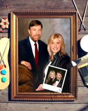 подарок портрет выполненный по фотографии Счастливы вместе