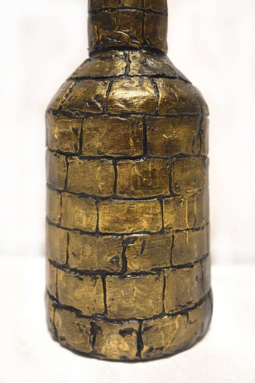 подарок мужчине декупаж бутылки Рыцарский замок 4