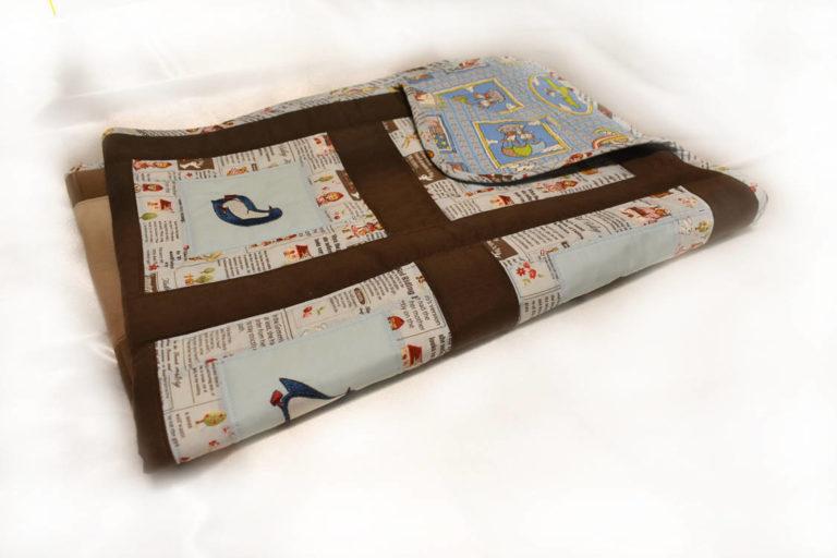 Подарок детское одеяло ручной работы пингвины 4