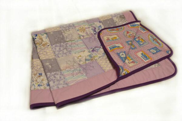 подарок детское одеяло ручной работы квилтинг розовое
