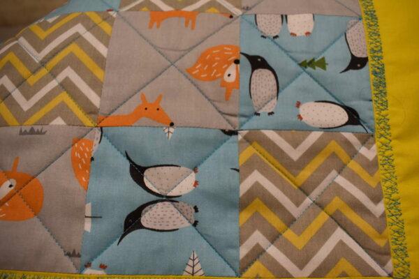 подарок детское одеяло ручной работы Лисички 3