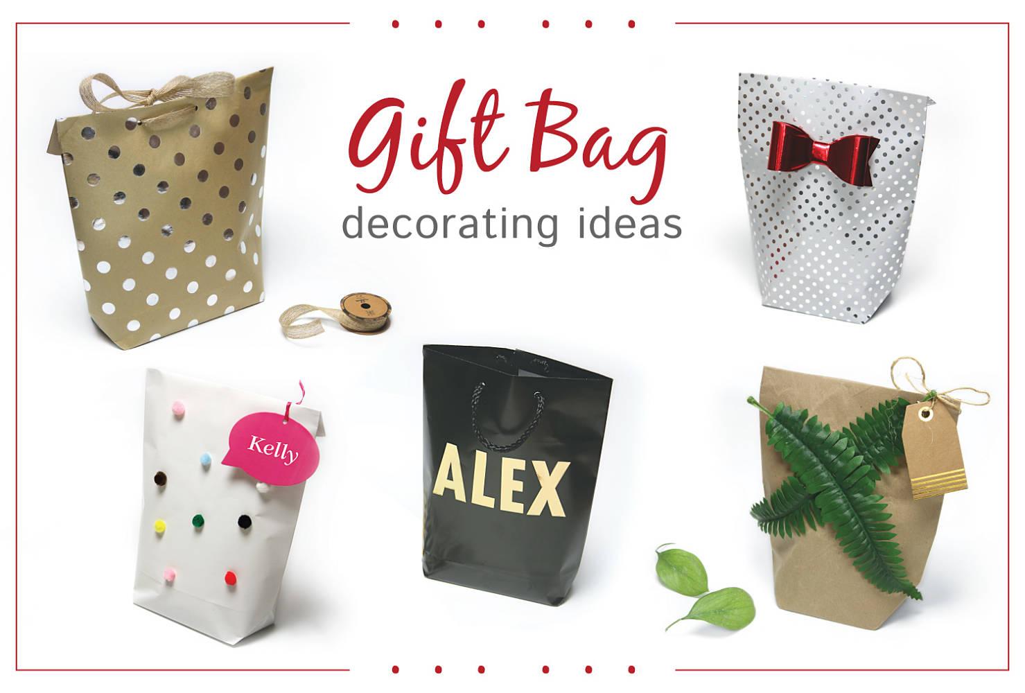 идеи украшения подарочного пакета