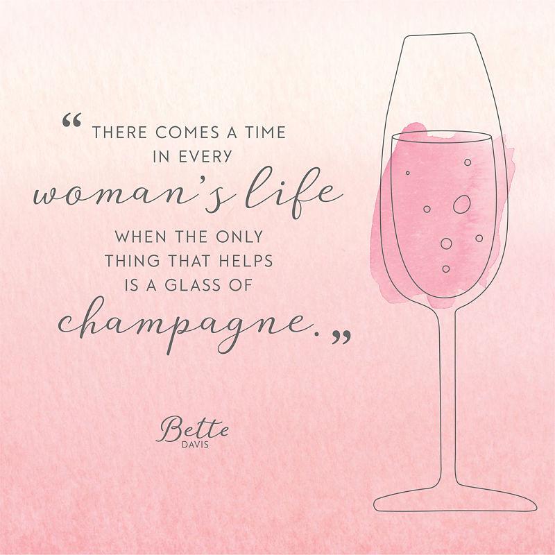 Цитата о шампанском Бетти Дэвис