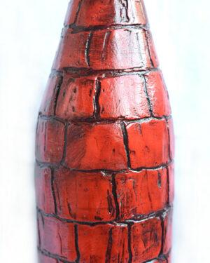 декупаж бутылки Рыцарь на коне 2
