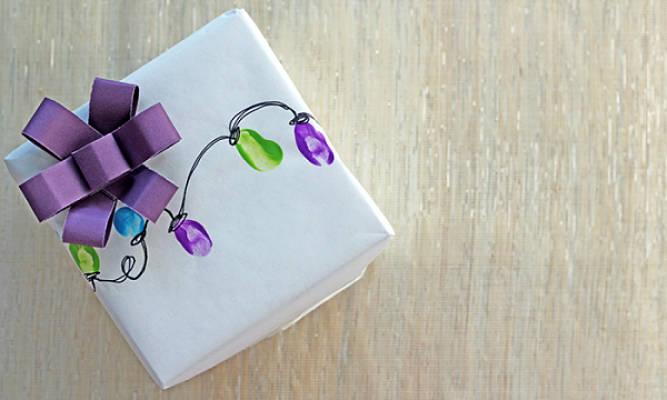 Идеи подарочной упаковки. Праздничные огни 1