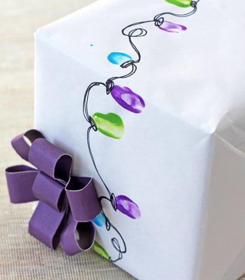 Идеи подарочной упаковки. Праздничные огни 4