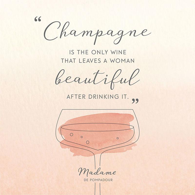 Цитата о шампанском Мадам де Помпадур