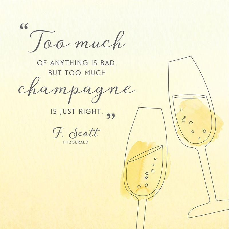 Цитата о шампанском Скотт Фицджеральд