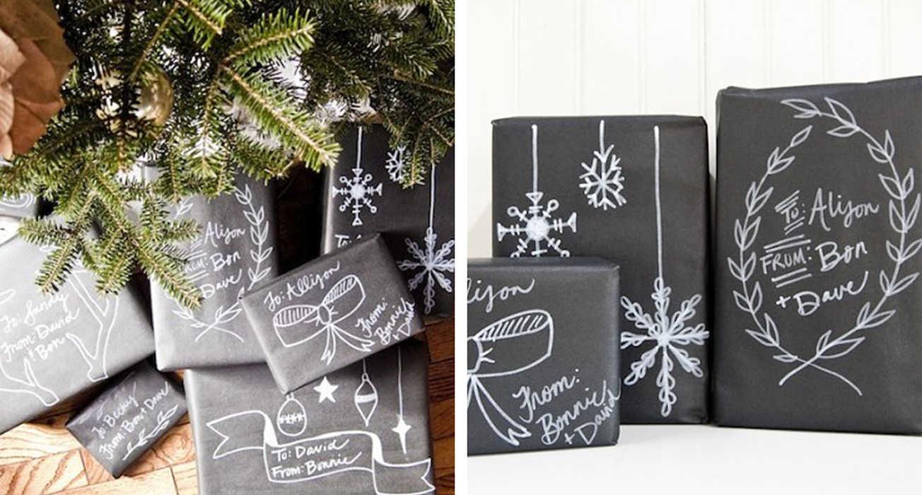 Черный стиль упаковки подарка