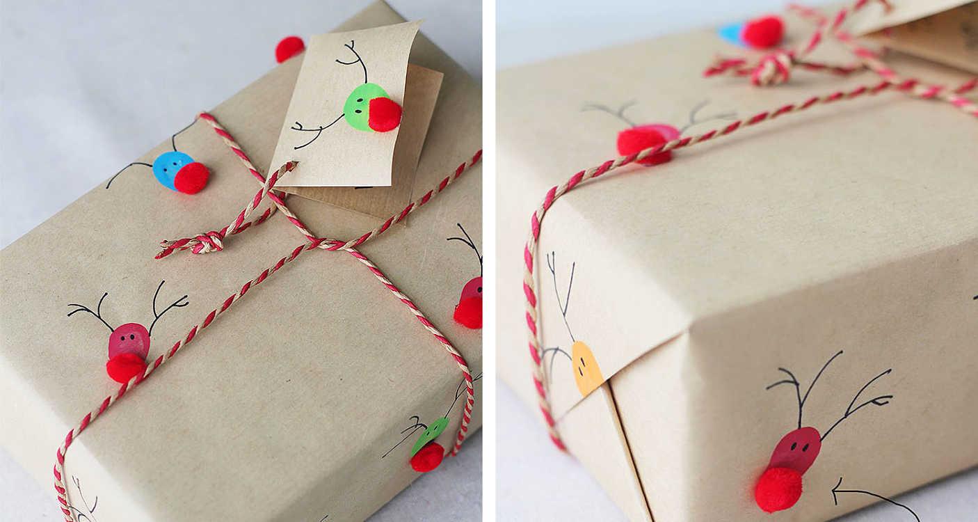 идея упаковки к рождеству