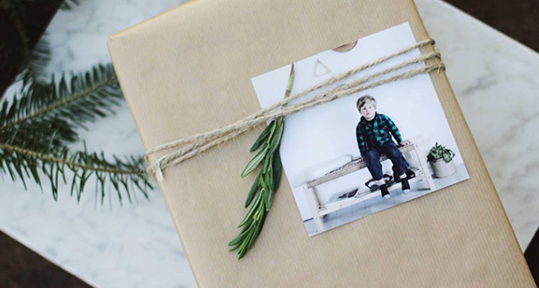 Карточка из фото на упаковку подарка