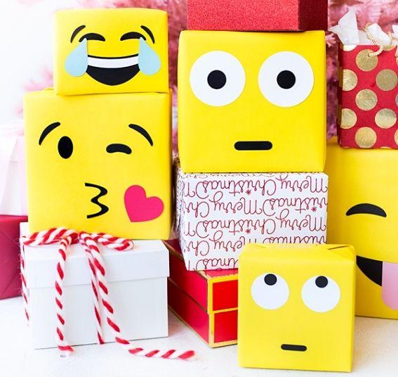 Подарочная упаковка Эмодзи. Делаем сами.