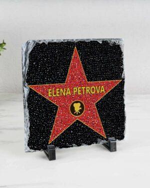 """подарочная голливудская звезда """"Именная"""" камень"""