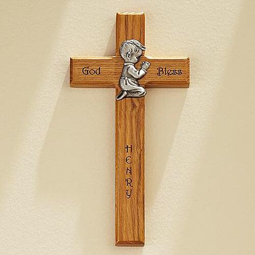 Крест символ веры для новорожденного