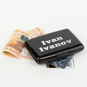 компактный и влагонепроницаемый кошелек Банкомат
