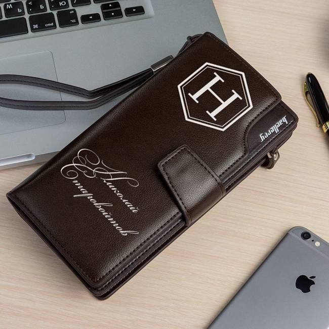 функциональный подарок для мужчин портмоне клатч Эксклюзив