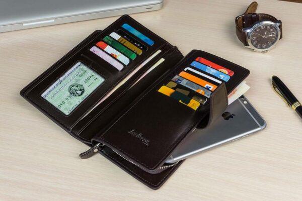 функциональный подарок для мужчин портмоне клатч Эксклюзив в развороте