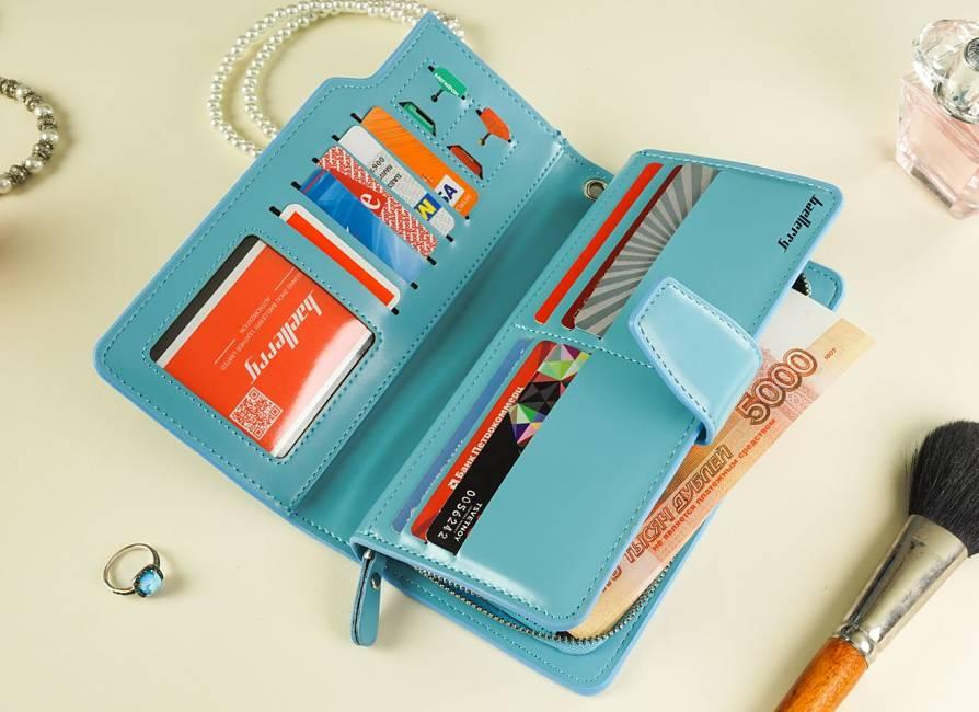 подарок для женщины портмоне клатч с именем разворот
