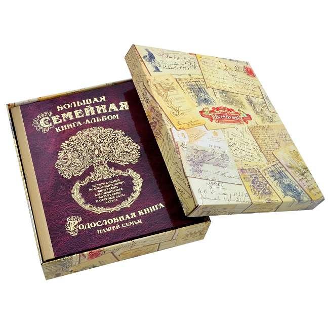 подарок семье книга-фотоальбом упаковка