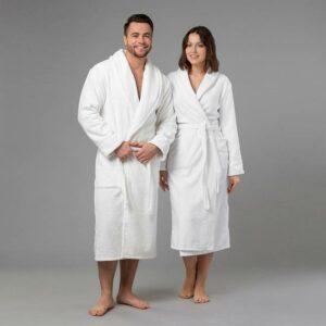 подарок паре халаты именные с вышивкой белые