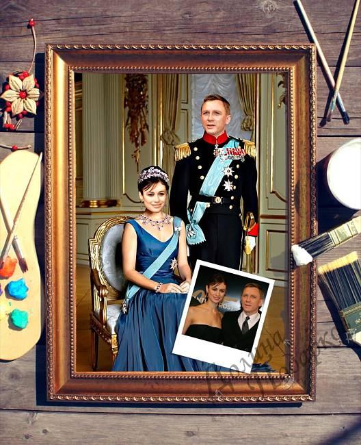 подарок портрет по фотографии принц и принцесса