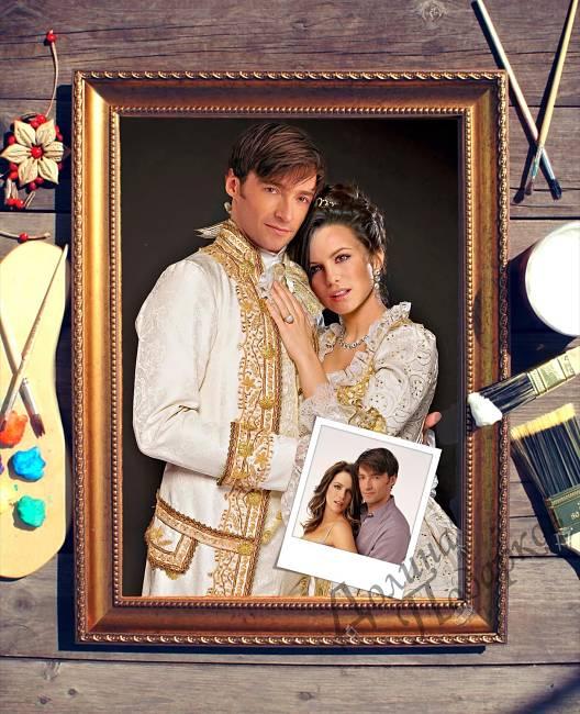 подарок паре портрет по фотографии роскошная пара