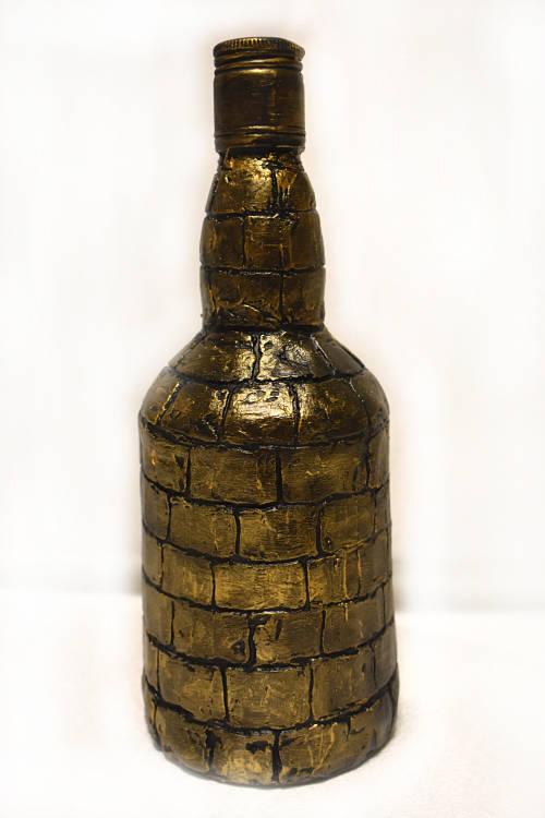 подарок мужчине декупаж бутылки Рыцарский замок 3