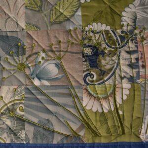 подарок одеяло ручной работы Цветы 2