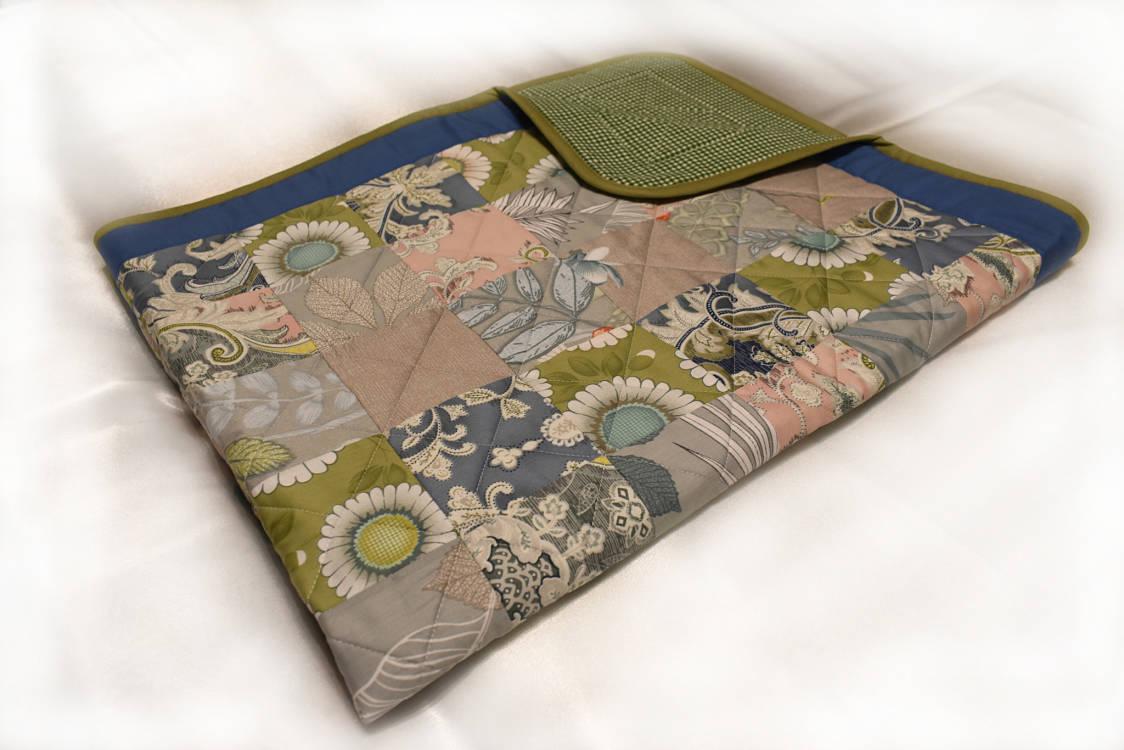подарок одеяло ручной работы Цветы 3