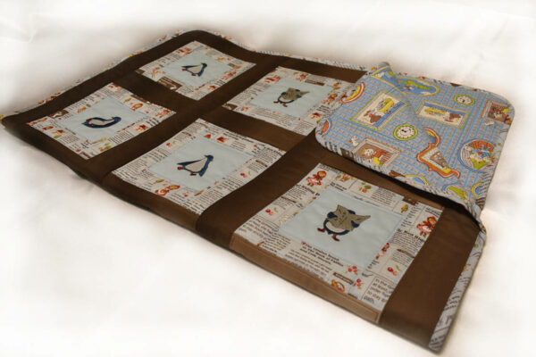 Подарок детское одеяло ручной работы пингвины 2