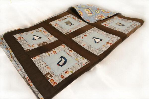 Подарок детское одеяло ручной работы пингвины 3