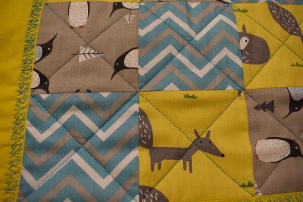 подарок детское одеяло ручной работы Лисички 2