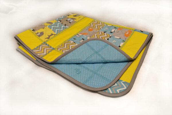 подарок детское одеяло ручной работы Лисички 4