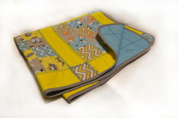 подарок детское одеяло ручной работы Лисички