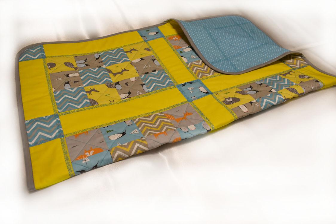 подарок детское одеяло ручной работы Лисички 5