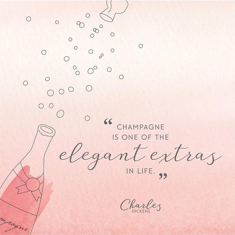 Цитата о шампанском Чарльза Диккенса