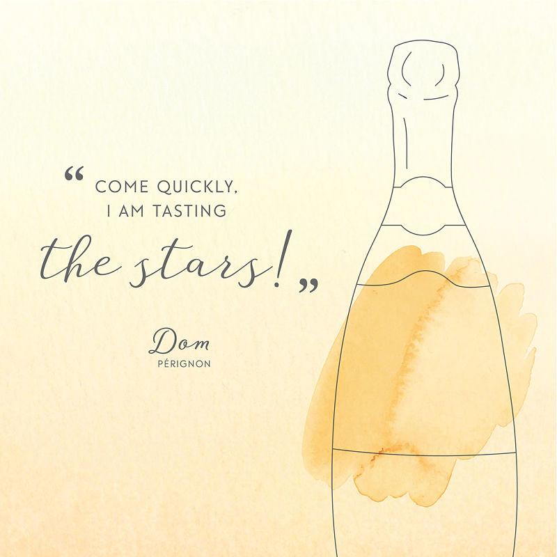 Цитата о шампанском Дом Периньон