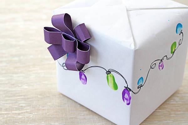 Идеи подарочной упаковки. Праздничные огни 2