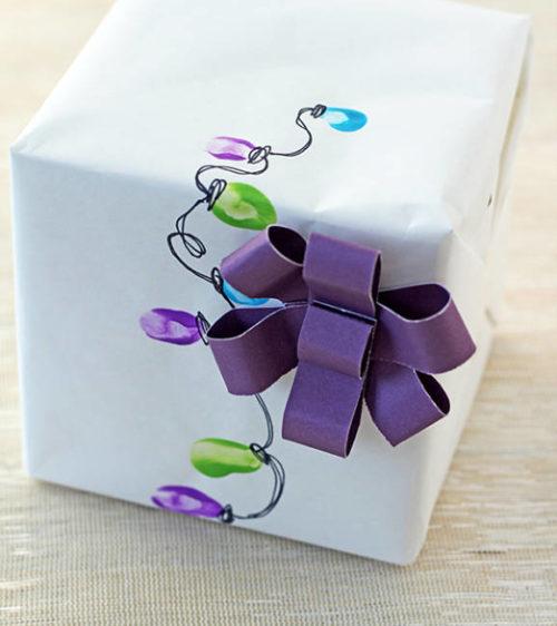 Идеи подарочной упаковки. Праздничные огни 3