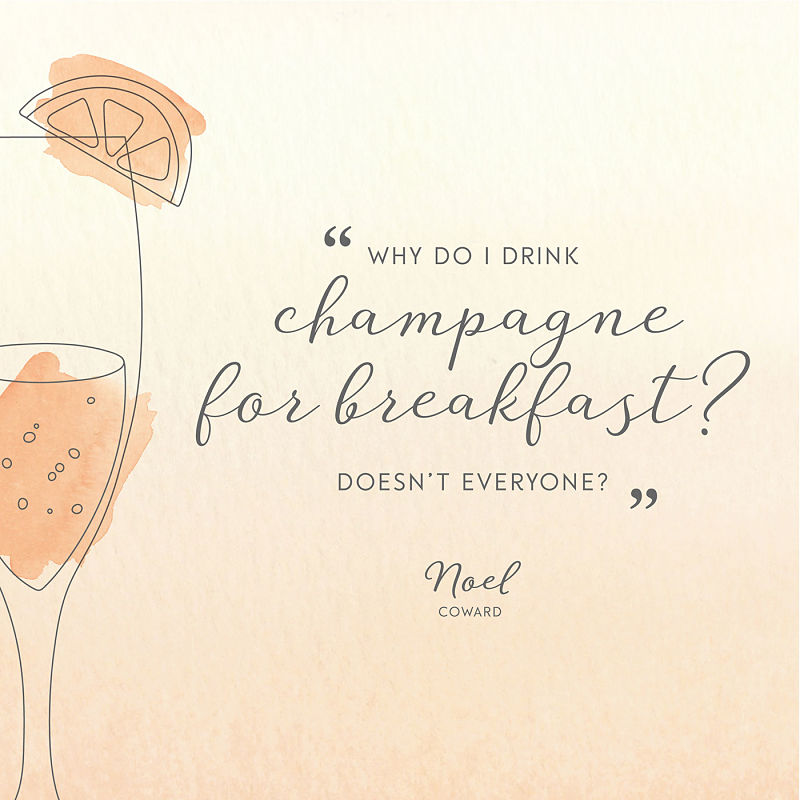 Цитата о шампанском Ноэль Ковард