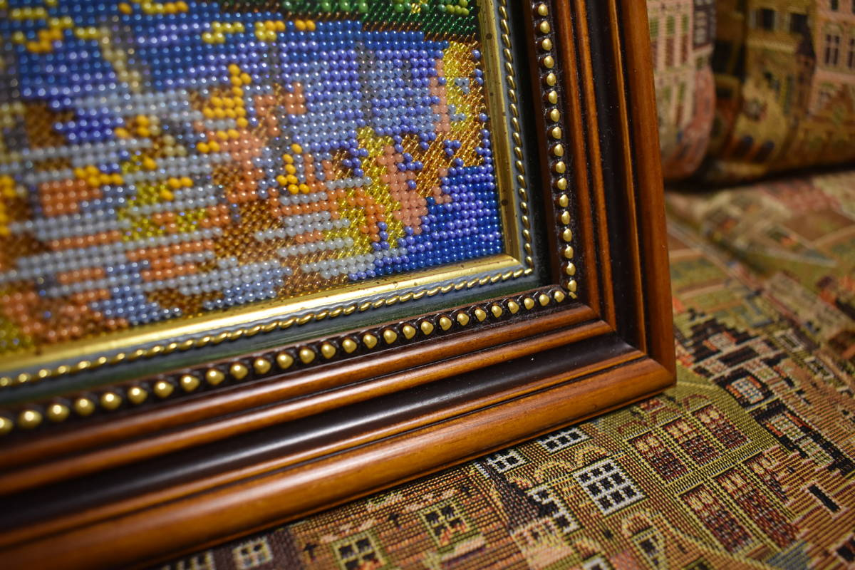 Картина вышитая бисером Палитра осени 3