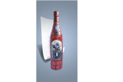 Как украсить бутылку спиртного для мужчины.