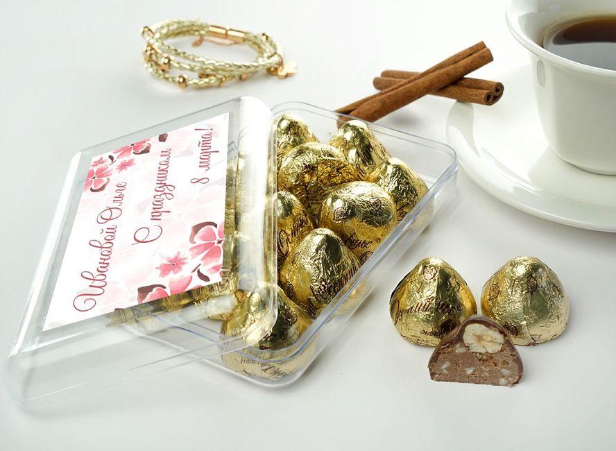 Именной набор конфет 8 марта открыт