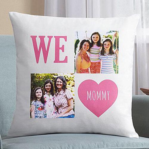 Подушка с фото родителей